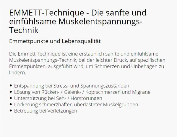 EMMETT Technique Schmerzhilfe in  Lonnerstadt, Höchstadt (Aisch), Uehlfeld, Gremsdorf, Vestenbergsgreuth, Pommersfelden, Adelsdorf und Mühlhausen, Wachenroth, Dachsbach